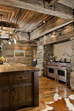 Love ! Great Rustic Kitchen