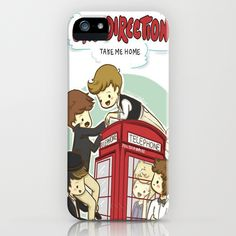 Take Me Home Cartoon One Direction iPhone Case by xjen94 | Society6