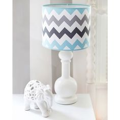 @Overstock - My Baby Sam Aqua Chevron Lamp - The perfect accent piece to your little boy's room, this beautiful lamp features a trendy chevron pattern. With rich blues and greys, this adorable lamp is the perfect way to light up your child's nursery.  http://www.overstock.com/Baby/My-Baby-Sam-Aqua-Chevron-Lamp/9234166/product.html?CID=214117 $49.99