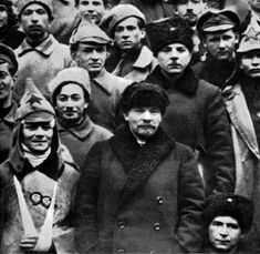 Russian Bolshevik leaders Vladimir Ilich Lenin and Kliment Voroshilov, Moscow, Russia, Lenin and Voroshilov at the Congress of the Russian Communist Party (Bolsheviks). Voroshilov was elected onto the Party's Central Com Bolshevik Revolution, Vladimir Lenin, World Conflicts, Russian Revolution, Russian Culture, Power To The People, Red Army, Stars And Moon, Historical Photos