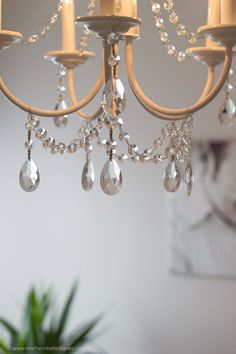 Diy chandelier update from italy to france on a budget twine you can make your own diy crystal chandelier this site shows you how easydiy diy decor aloadofball Choice Image