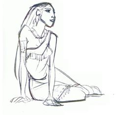 "Concept art of Pocahontas by Glen Keane from Disney's ""Pocahontas"" Disney Concept Art, Disney Art, Disney Stuff, Disney Sketches, Disney Drawings, Character Design Animation, Character Art, Glen Keane, Color Script"