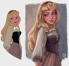 7 Increíblemente hermosas ilustraciones de las princesas Disney.
