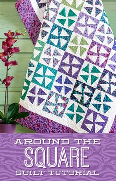 Jenny Doan is teaching us how to create perfect points in the Around the Square quilt tutorial! Learn how to create these cute triangle quilt blocks using the Missouri Star Small Simple Wedge Template. Watch the free tutorial today! Missouri Star Quilt Tutorials, Quilting Tutorials, Quilting Projects, Quilting Designs, Msqc Tutorials, Quilting Ideas, Bonnie Hunter, Quilt Festival, Star Quilts