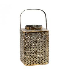 Lanterns provide an excellent light quality and a warm and enchanting radiance to your outdoor events. Explore our collection Metal Lanterns, Lanterns Decor, Home Living, Antique Gold, Basket, Antiques, Home Decor, Collection, Antiquities