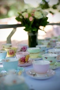 High Tea vintage china hire - Perth WA
