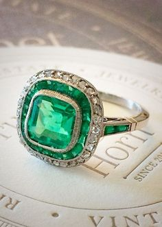 Emerald engagement ring by sasy1