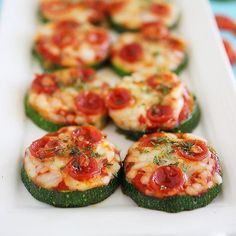 Zucchini Pizza Bites http://www.prevention.com/food/healthy-zucchini-recipes/slide/3