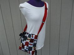 Mickey Mouse Crossbody Novelty Bag in Black and Red by OMGDesigns