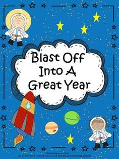 Blast Off Into A Great Year is a back to school resource for teachers using the space theme. Back To School Activities, Back To School Gifts, School Resources, Kindergarten Activities, Preschool, Space Theme Classroom, School Classroom, School Fun, Classroom Ideas