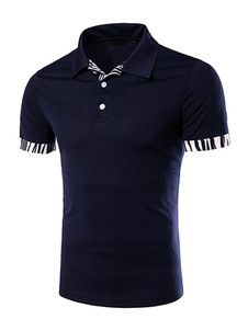 Camisa Polo elegante camisa los hombres con falso bolsillo 810a986324184