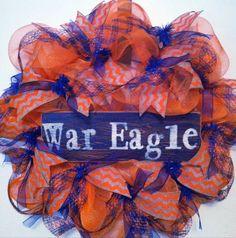 Auburn War Eagle Football Wreath War Eagle by PollysPinkTurtle, $58.00