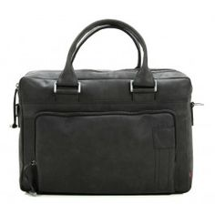 Strellson Richmond 14'' Briefcase with Laptop Compartment velvety leather black