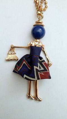 Sautoir Collier Poupée Articulée Femme et Chaîne Métal - Mode Fantaisie in Bijoux, montres, Bijoux fantaisie, Colliers, pendentifs | eBay
