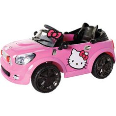 Hello Kitty Coupe 6-Volt Battery-Powered Ride-On. She NEEEEEEEDS this (or i do?) <3333