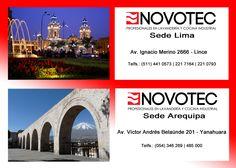 Visita nuestras sedes en: Av. Ignacio Merino 2666, Lince - Lima Av. Victor Andrés Belaúnde, 201 Yanahuara - Arequipa  Visita nuestra pagina web: http://www.novotec.com.pe/