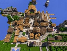 Minecraft town. I have always wanted to do this, but then I am left with the question how...