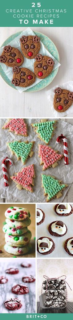 Bookmark this for 25 creative Christmas cookie recipes ideas to make for the holidays.