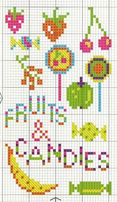 De Dmc Blog: Cross Stitch Diagrammen CANDIES