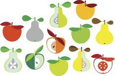 Kivik Apple and Pear - White