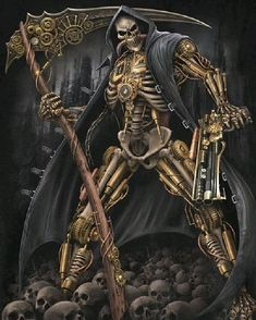 Steampunk Skeleton ⠀ By AndrewVideos510Art⠀