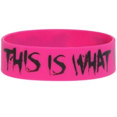 Miss May I What I Got Rubber Bracelet | Hot Topic ❤ liked on Polyvore featuring jewelry, bracelets, accessories, rubber jewelry and rubber bangles