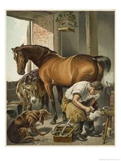 Shoeing, Art by Sir Edwin Henry Landseer I have this art piece in my office and love it