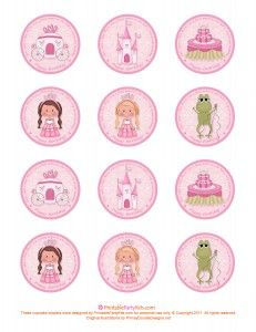 Free Printable Princess Birthday Cupcake Toppers