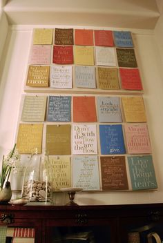 A cool way to display favorite quotes.