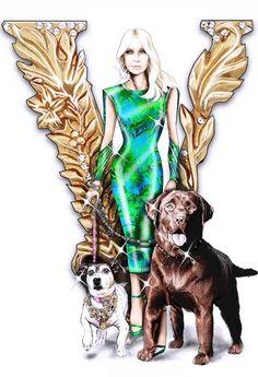 Donatella Versace, Atelier Versace, Collages, Princess Zelda, Illustrations, Birthday, Fictional Characters, Art, Fashion