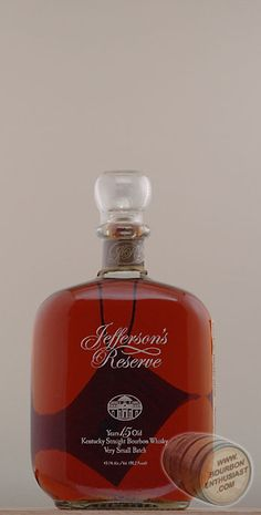 Jefferson's Reserve Bourbon, for the Renaissance man in all of us.