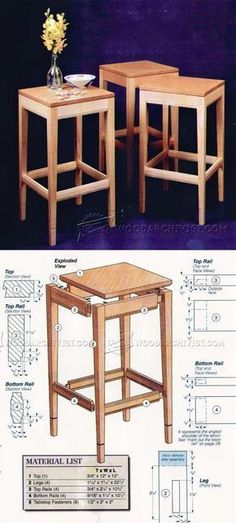 Side Table Plans - Furniture Plans and Projects | WoodArchivist.com #woodworkinginfographic #woodworkingtips