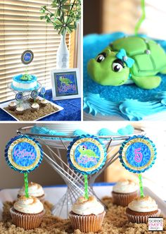 Sand and Sea Turtle Party part 2 - The Activities and Cake!  http://soiree-eventdesign.com/2013/06/sand-and-sea-turtle-party-part-2-the-activities-and-cake/