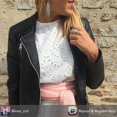 Repost from @ines_rcd using @RepostRegramApp - Bague multi-rangs argenté   Boucles d'oreilles grandes plumes argentées   Foulard uni rose pastel à petits sequins from @diwali_paris 💕 La livraison est gratuite avec le code MAMAN #details #pink #silver #ootd #ideetenuedemariage #wiwt #outfit