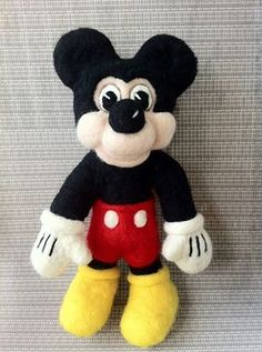 Needle Felted Mickey Mouse by Patti McAleenan.