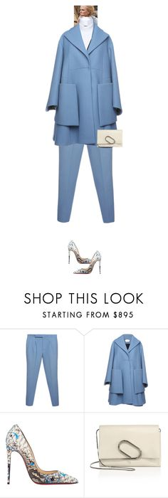 """""""Sophie Jane Magnolia #7690"""" by canlui ❤ liked on Polyvore featuring Dice Kayek, Christian Louboutin and 3.1 Phillip Lim"""