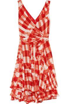Oscar de la Renta Printed silk-chiffon dress NET-A-PORTER.COM