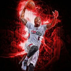 Basketball Art, Basketball Players, Damian Lillard, Portland Trailblazers, Trail Blazers, Nba Players, Sports Teams, Big Game, Beast