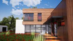 maison passive à Montgeron Architecture Residential Architecture videos Architecture Board, Concept Architecture, Residential Architecture, Contemporary Architecture, Architecture Details, Interior Architecture, Luxury Homes Dream Houses, House Of Beauty, Box Houses