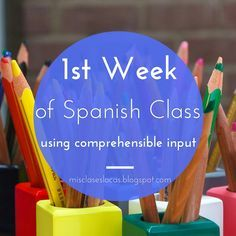 week of Spanish Class using CI - Mis Clases Locas Days specific activities Spanish Teaching Resources, Spanish Activities, Spanish Language Learning, Foreign Language, Preschool Spanish, French Language, Elementary Spanish Classroom, Spanish Classroom Decor, Spanish Worksheets