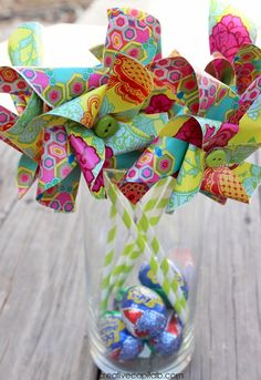 Simple Circle Pinwheels tutorial for Spring Decor or fun with kids