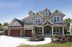 Storybook House Plan With 4 Car Garage - 73343HS | Craftsman, Northwest, Exclusive, Luxury, Photo Gallery, Premium Collection, 2nd Floor Master Suite, Butler Walk-in Pantry, CAD Available, Den-Office-Library-Study, In-Law Suite, Jack & Jill Bath, MBR Sitting Area, Media-Game-Home Theater, PDF, Sloping Lot | Architectural Designs