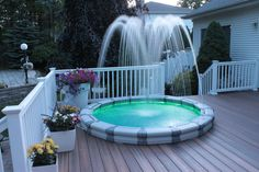Decorative Fountains, Backyard, Patio, Light Effect, Rooftop, Terrace, Environment, Outdoor Decor, Balcony