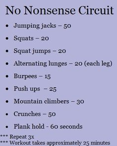 a no excuses, no equipment required workout.  Really good for those of us that travel a lot.