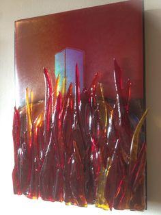 Rebirth. Fused Glass