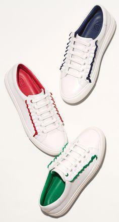 official photos ec016 ea7d9 Tory Sport Ruffle Sneaker