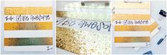 DIY gold glitter Zazzle clipboard knockoff! So easy and totally adorbs! | Mommie and Wee