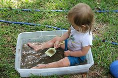 make mud and play in it!