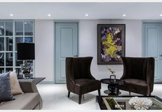 霧藍光邸_美式風設計個案—100裝潢網 Decor, Oversized Mirror, Furniture, Home, Home Decor