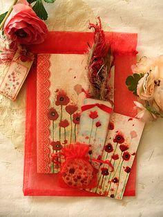 Poppies stationery set by MinaSmoke
